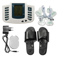JR 309 Electroestimulador Muscular Body Relax Muscle Massager Pulse Tens Acupuncture Therapy Slipper 4Pads Russian Button