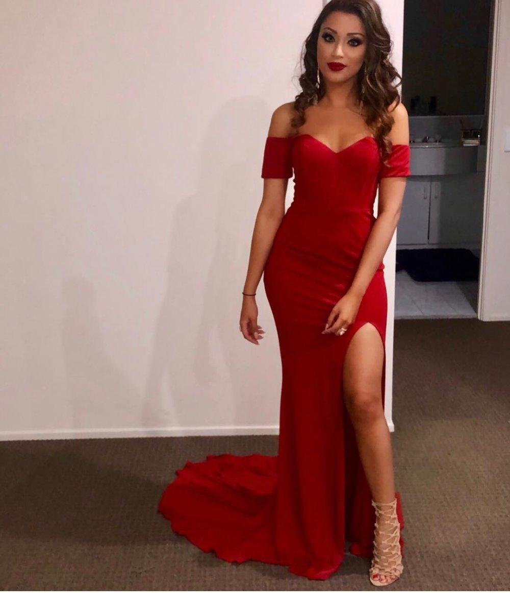 Robes Élégant Rouge Partie Femmes Club Longues Celebrity Sexy Night L'épaule Bandage De Mode Outre Blanc Bretelles Sans pTwCdpq