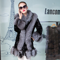 Genuine Mink Fur Coat Women Real Fox Fur Coat Long Jacket Fur Mink Overcoat Lady New Fashion Winter Warm Fox Fur Outwear Female
