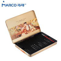 Marco Raffine 36/48 Colored Pencils Set Colors Art Drawing Pencils for Writing Drawing and Sketching School Supplies Stationery