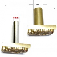 8mm 12mm Handle Metal Brass Mould Wood Leather Stamp Custom Logo Design Tool Branding Plastic Cake