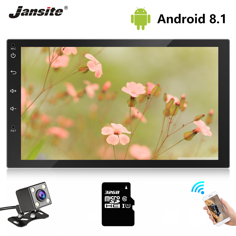 "Jansite Universal 7"" 2 Din Car Radio player + Touch screen Dashcam Stereo Audio Video Bluetooth FM GPS Navigation radio TF Card"