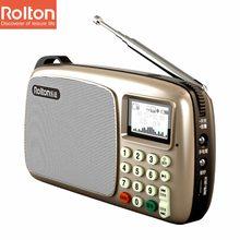 Rolton T303 MP3 WMA wa плеер мини портативных динамиков радио fm радио с ЖК-экраном Поддержка карты памяти музицирование светодиодный фонарик