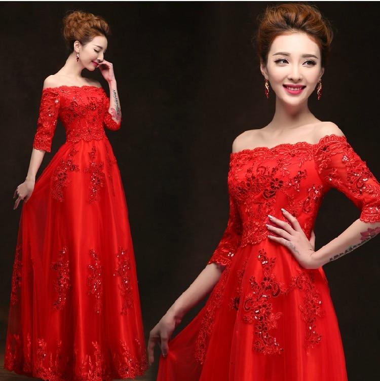 2018 Free shipping Lace Prom Party gown Long Evening dress Robe de soiree vestido de casamento longo com TK484