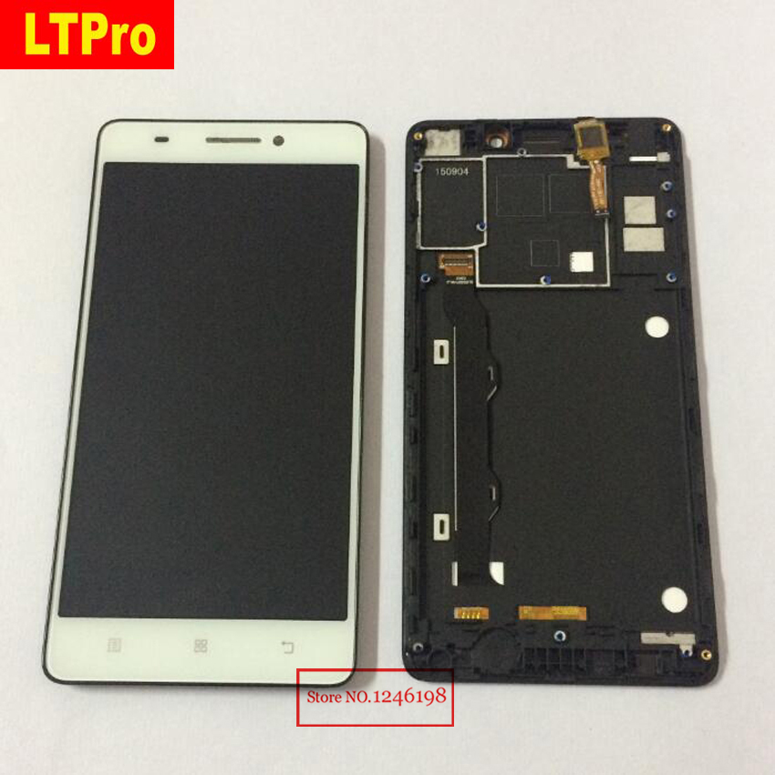 LTPro Black white Full LCD Display Touch Screen Digitizer Assembly With Frame For LENOVO K3 Note K50 K50-T K50T K50 Replacement