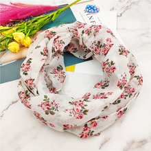 New flower Infinity Scarf for women Loop Neckerchief ring scarf Echarpe Foulard Femme snood spring summer autumn O