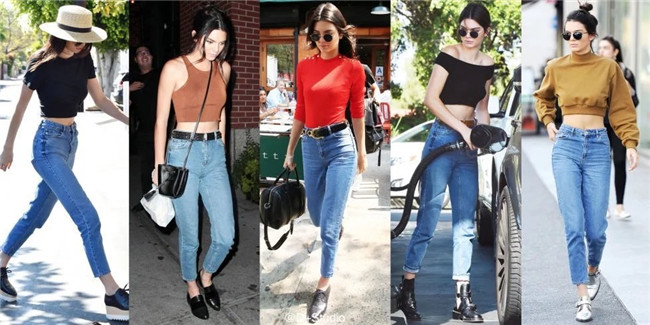 19 korean style women pencil denim pants high waist jeans woman casual vintage jeans boyfriend mom jeans light blue streetwear 8