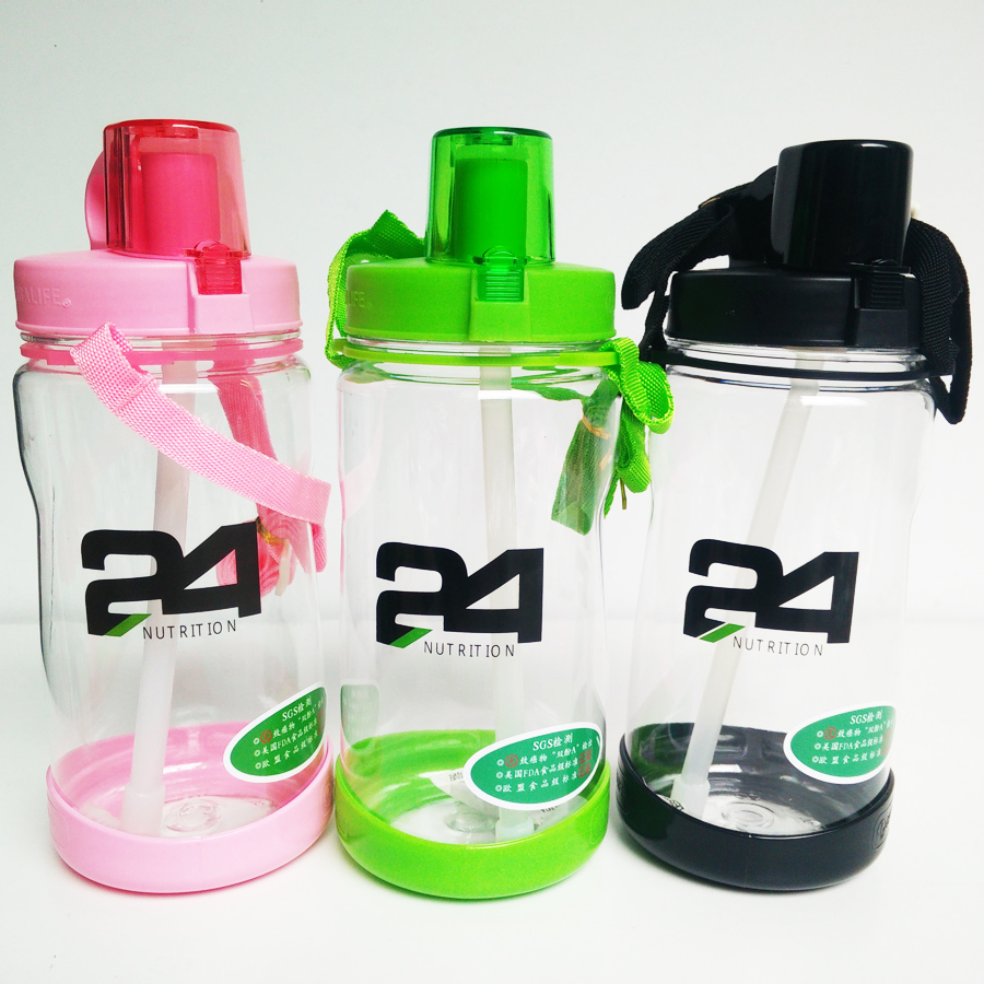 Sports Bottles Cup Scrubs Plastic Sports Fitness Montar A Caballo Al Aire Libre Portable Space Cup 600ML,Pink Bolsas de agua Accesorios para mochilas