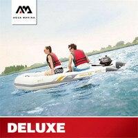АКВА МАРИНА Новая роскошная надувная лодка гребная лодка 3 6Persons надувная резиновая лодка вода штурмовая быстрая лодка множественный выбор