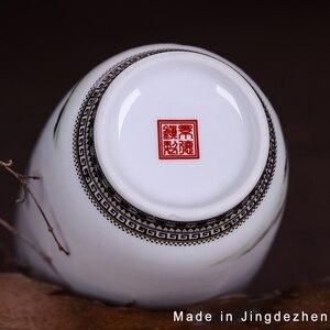 Image 4 - Jingdeedt vaso de cerâmica estilo chinês, artigos para decoração de casa, vaso fino de superfície suave
