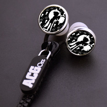 Anime Detective Conan Edogawa Case Closed Zipper Cable Earphone Wired Stereo In-ear Earbuds Earphones Headset for Iphone Samsung