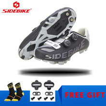 Sidebike Cycling shoes MTB Professional MTB Bike Shoes Self-locking Breathable Cycling Sneakers men women Mountain Bicycle Shoes sidebike men mountain bike shoes cycling road bicycle mtb shoes breathable wear resistant self locking cycling sneakers white