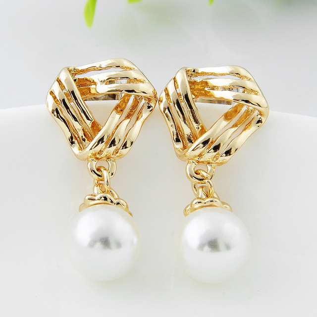 Fancy Clip On Earrings Imitation Pearl Without Pierced For Party Wedding Woman