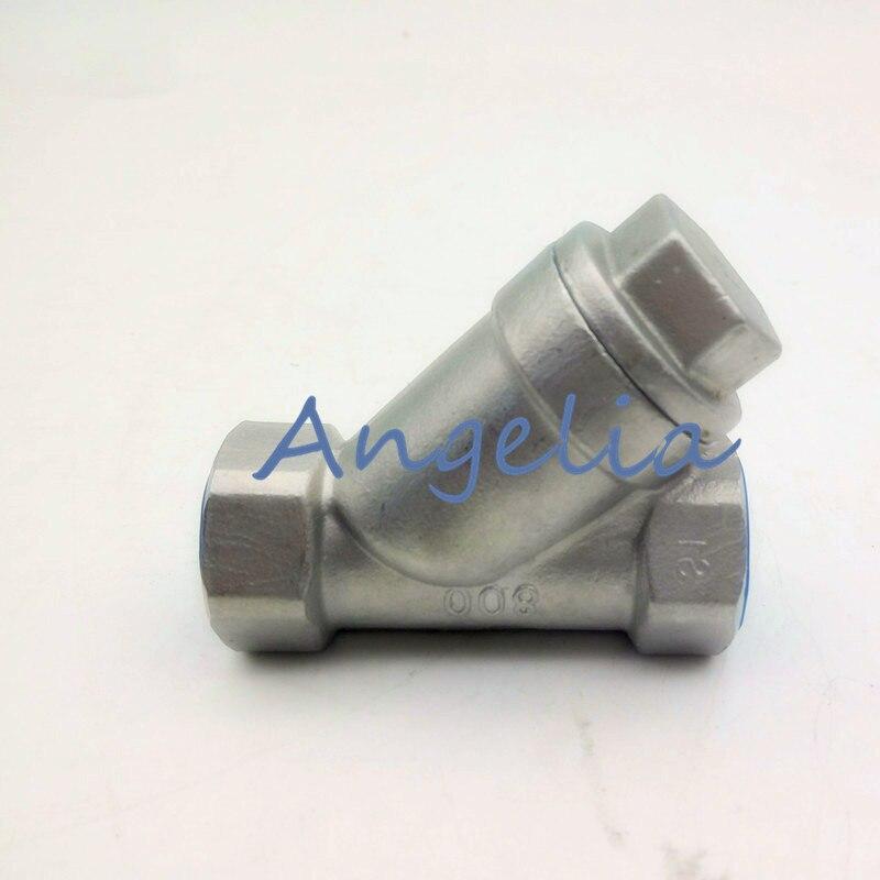 1/2 DN15 BSP 304 Stainless Steel Mesh Strainer Booster Pump Inline Y Filter Female thread