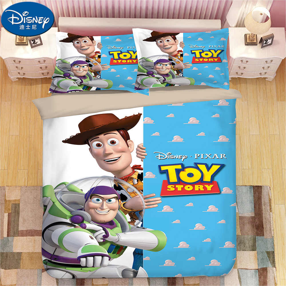 Toy Story Bedding Set Woody Buzz Lightyear Duvet Covers Pillowcases Toy  Story kids Cartoon Comforter Bedding Sets bed linen