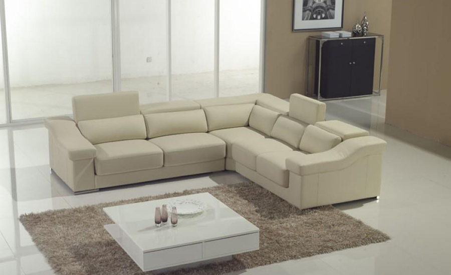 House Modern Sofa Top Grain Real Leather Sofa Couches L Shaped Sectional  Corner Sofas Small Living Room Furniture Sofa Set In Living Room Sofas From  ...