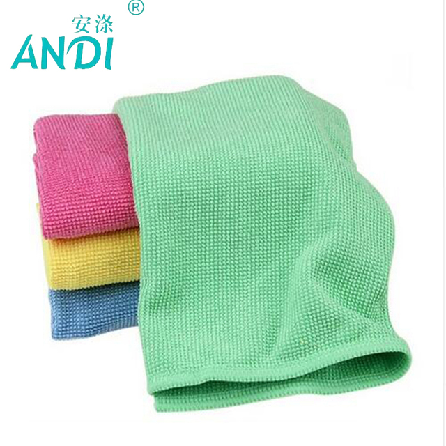 4 Pieces Microfiber Kitchen Durable Pearl Cleaning Cloth Set 30x40cm Dish Washing Towels Absorption Gl Accessories