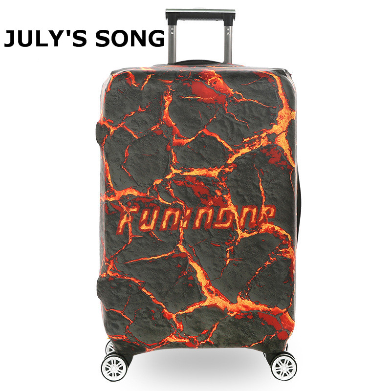 Volcano Crackle Design Luggage Protector Cover Suitcase Covers Waterproof Luggage Covers Accessory Bag Travel Trolley Case Cover