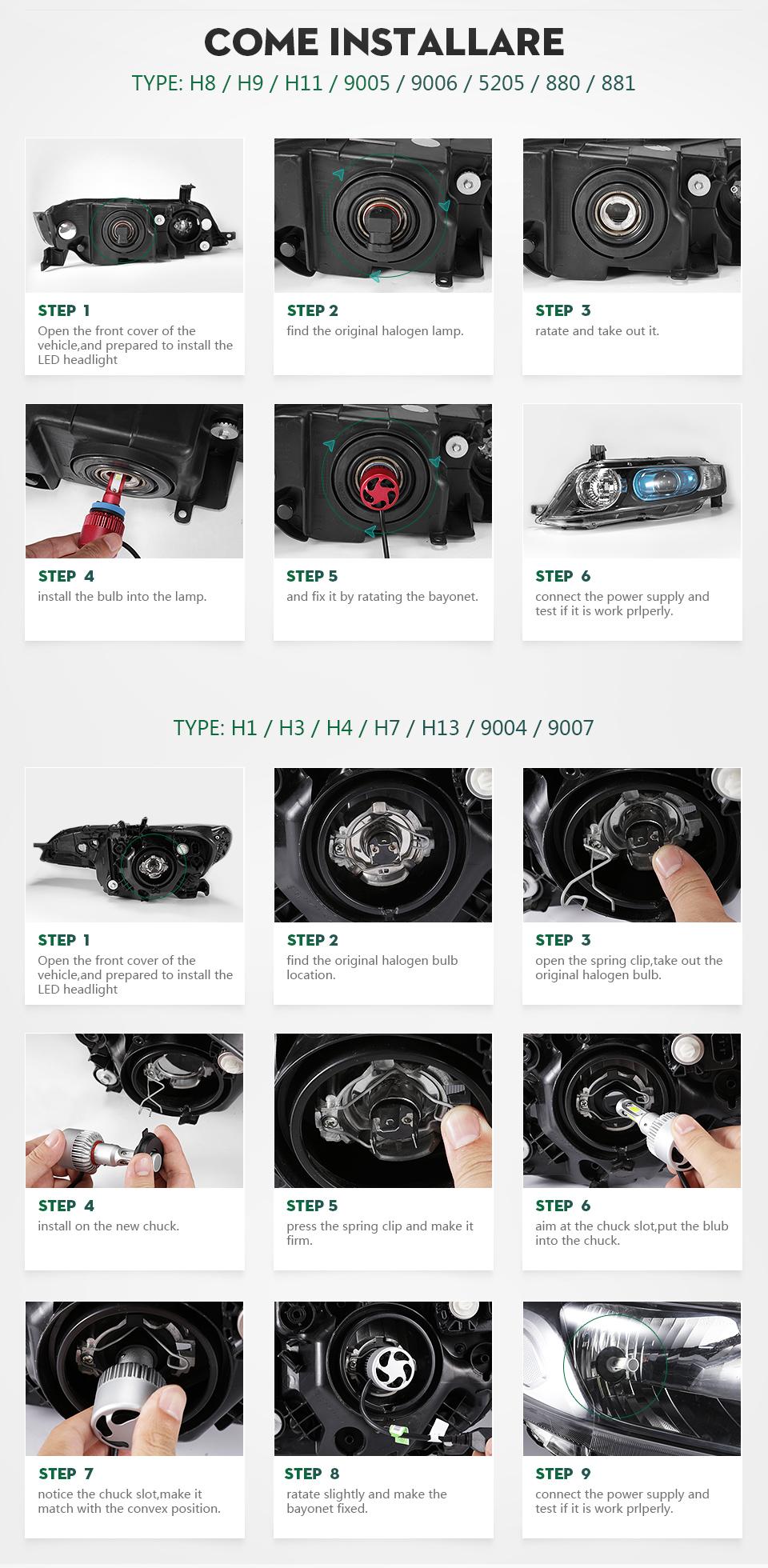 С6 техники Н7 Watt автомобиль фары для авто 70 вт 7000lm Сид Сид SMD Chip светодиодные Н4 Н1 н11 н13 9005 9006 автомобильных фар Tan света к 12 в 6500