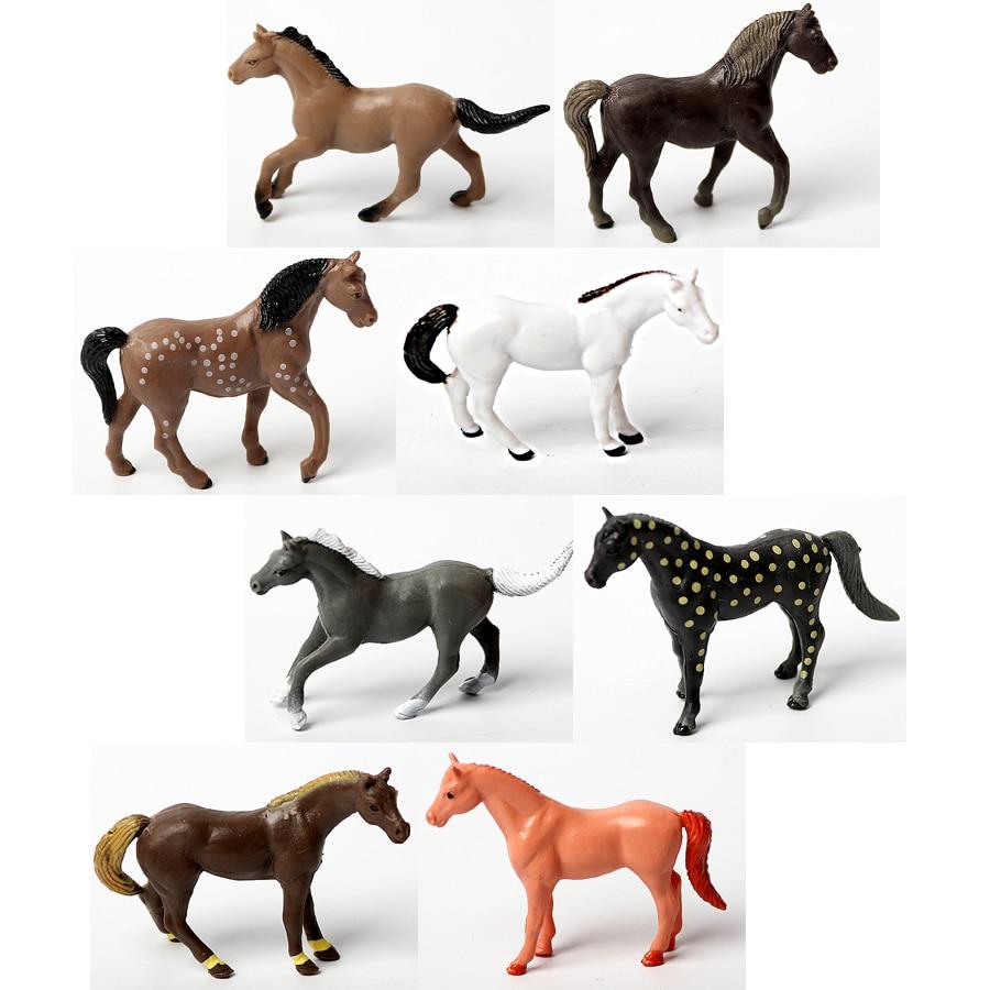 Assorted Plastic Horse Toys Simulation animal model Horseland Horse,Western  Cowboy Horse action figure education Toys or Kids