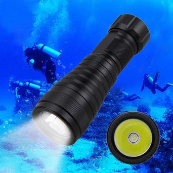 цена на Waterproof Underwater 100m Diver Lamp 10000LM XM-L L2 LED Scuba Diving Flashlight Torch Lamp