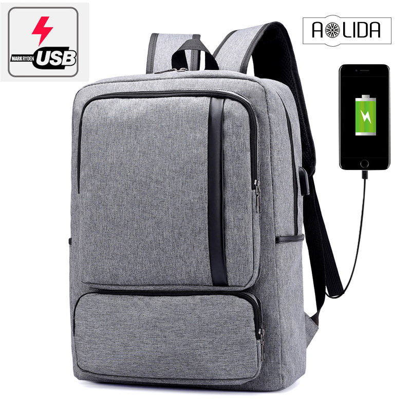 3cb75f5c375c Image School Bags for Teenagers Brand Youth Back Bag Oxford Waterproof USB  Charge College Bags Men