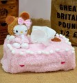 Plush toy 1pc cartoon cookies bowknot kitty cat vehicle tissue paper towel cover decoration children stuffed gift for baby