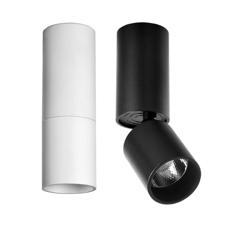 Lumière de tache réglable de 90 degrés de Downlight de plafond monté par Surface de Led pour le Foyer d'intérieur, appareil d'éclairage d'ac 90-260 V de salon