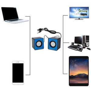 Image 4 - Portable speaker Mini USB 2.0 speakers Music Stereo for computer Desktop PC Laptop Notebook home theater
