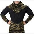 2016 Новая Мода Толстовки С Капюшоном осень и толстовка мужская военный камуфляж колющие случайные пальто