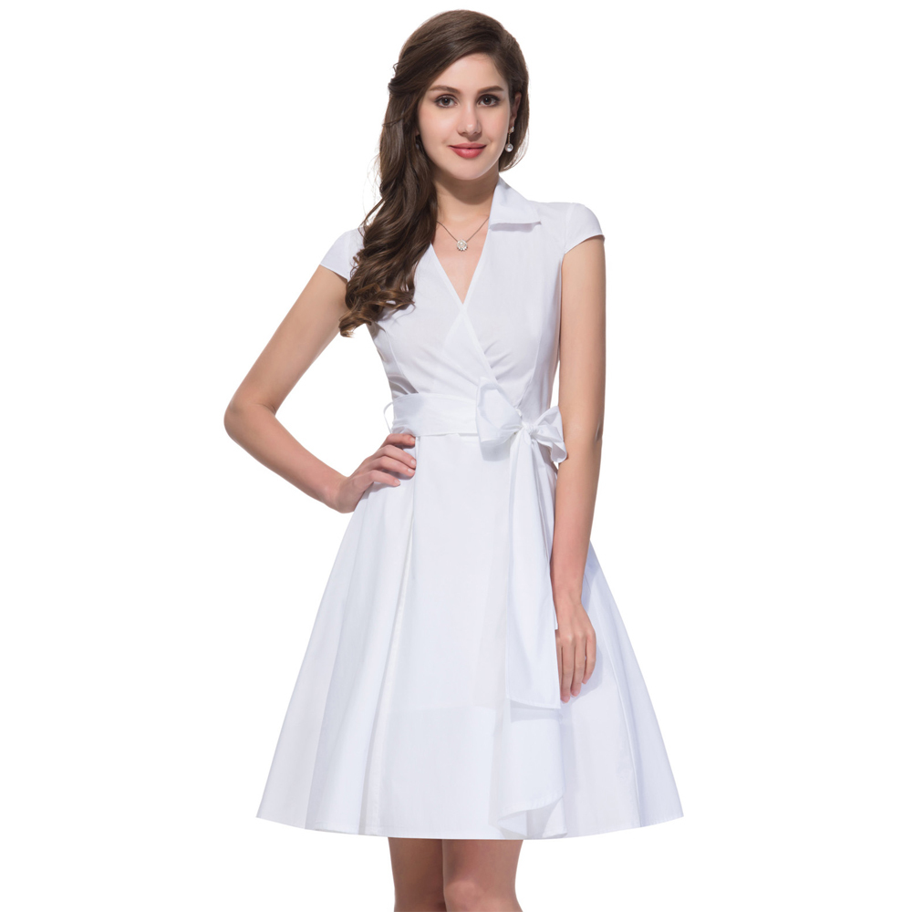 3f5106b56c99 Buy white rockabilly dress and get free shipping on AliExpress.com