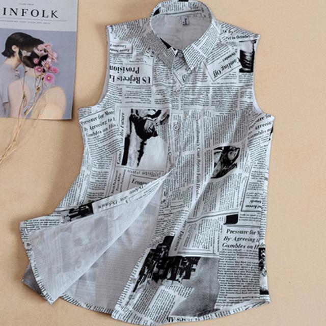 False Collar Lapel Blouse necktie collar White grey Fake collar Removable Detachable English newspaper printing shirt collar
