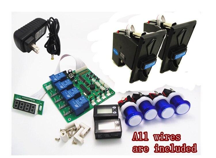 bilder für 1 kit für JY 21 4 ziffern minte: zweite münz timer board für 1-4 geräte maschinen mit 923 multi münzprüfer selector