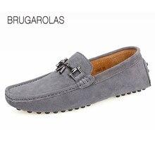 Brugarolas-мужская повседневная обувь Весна-осень обувь на плоской подошве из натуральной кожи дышащие мужские мокасины женские мокасины Brand вождения Shoes