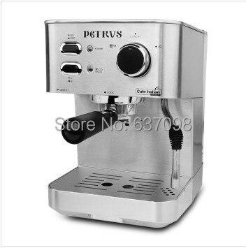 China Petrus Italian High Pressure Steam Coffee Machine Milk Foam PE3380 20bar Household Espresso Maker