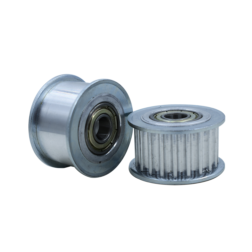 <font><b>HTD5M</b></font> 24T Idler Pulley 16/21/27mm Belt Width Bearing Idler Gear Pulley With/Without Teeth 5/6/7/8/10/12/15mm Bore Idler Pulley image