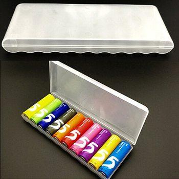 Caja de plástico, caja de almacenamiento, cubierta para 10 Uds. Caja de pilas AA, caja de contenedor, caja tipo organizador
