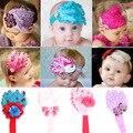 Niños lindos niños bebé flores Feather Rhinestone venda Hearwear Hairband XL138 envío libre y envío de caída libre