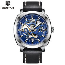 BENYAR 2019 New Luxury Casual Clock Men Automatic Watch Skeleton Business Watch Mechanical Relogio Male Montre Watch Mens Reloje new luxury top brand men watch steel hollow skeleton automatic mechanical watch male clock luminous sport business watch relogio
