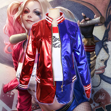 Adult Cosplay Harley Quinn Ladies Costume Full Set Suicide Squad Cosplays Accessories Party Halloween Costumes Women Costumes batman suicide squad harley quinn movie cosplay costumes shoes boots high heels custom made for adult women halloween party