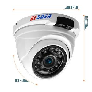 Image 4 - BESDER Vandal geçirmez kapalı dış mekan kubbe kamera IP geniş açı su geçirmez IP kamera 1080P 960P 720P IR gece güvenlik ev kamerası