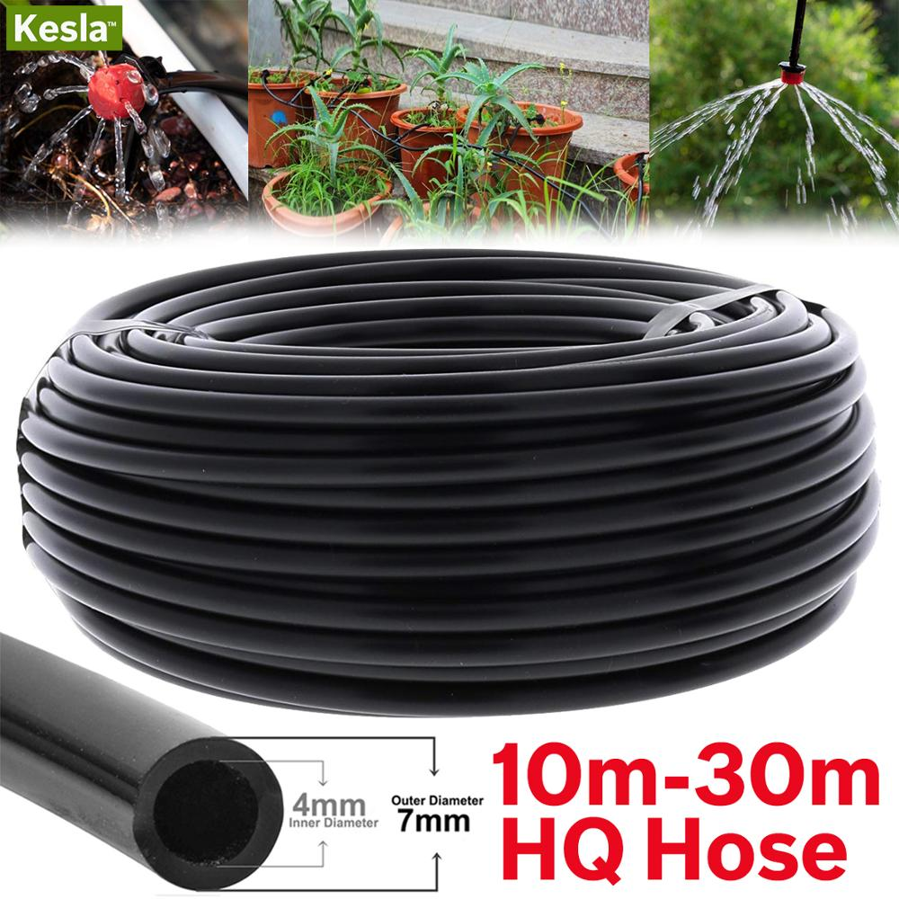 10-30M Watering Hose Drip Pipe 4//7mm PVC Micro Drip Irrigation Tube For Garden