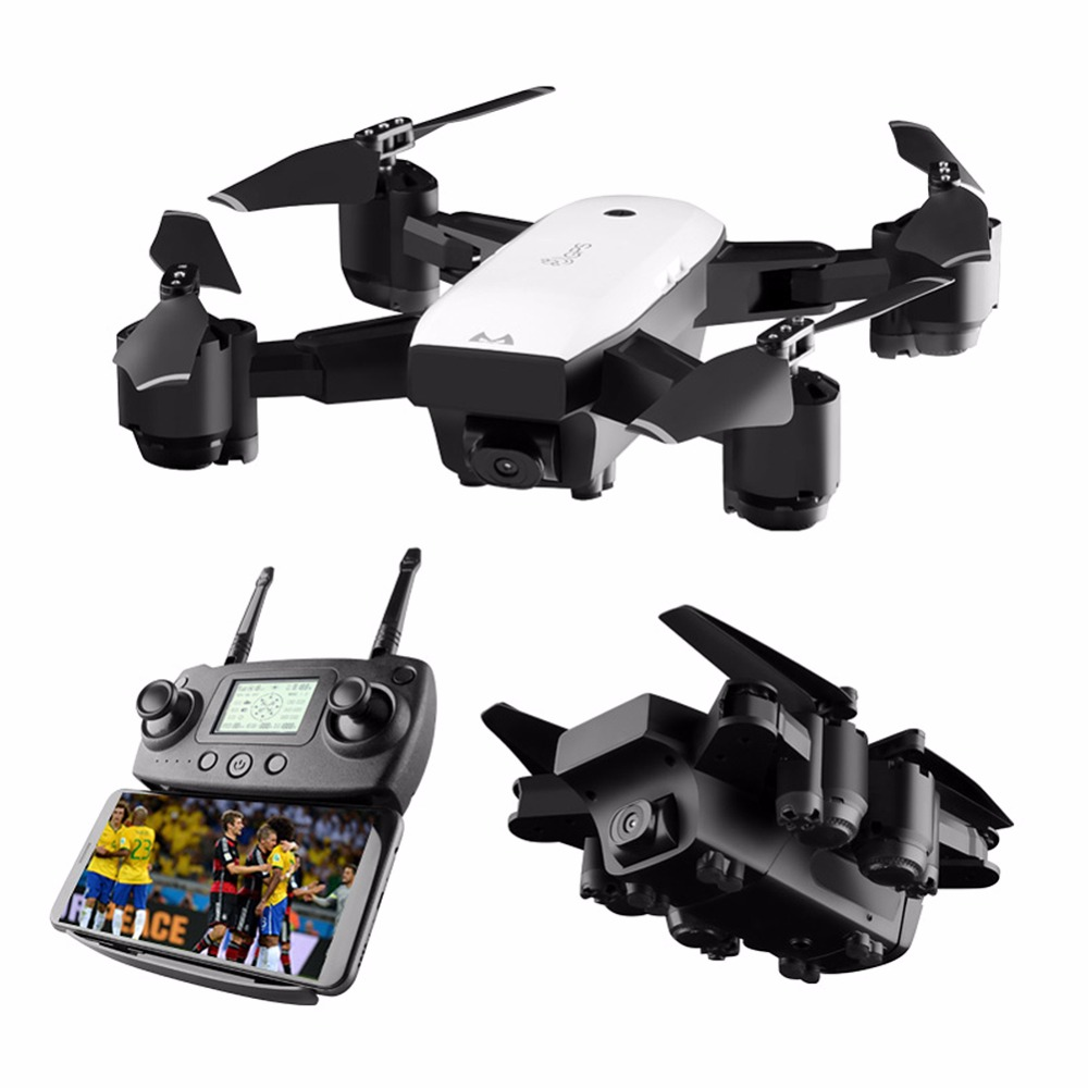 Best Drone 1080P HD Camera with Double GPS FOLLOW ME FPV SMRC RC Quadcopter Foldable Selfie Live Video for Child gift beginners