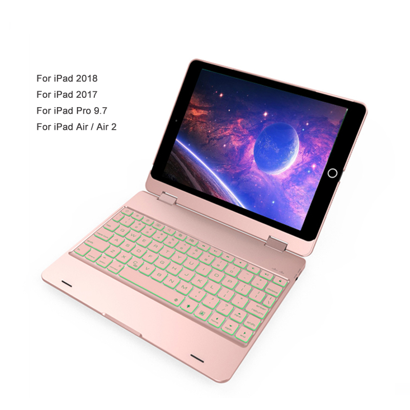 Rechargeable Keyboard For iPad Air Case Cover Stand Cooling Luxury Backlit Keyboard For 2018 Case With Keyboard For iPad 5 A1474 detachable official removable original metal keyboard station stand case cover