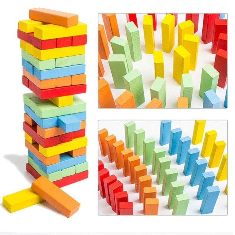 48 piezas juguetes educativos de madera Torre bloque de madera de apilamiento juego-Número de Encuentro de juego Versión mejorada superhéroes Ironman Compatible Legoinglys Marvel Avenger Torre Fit Avengers regalo bloques de construcción de Juguetes