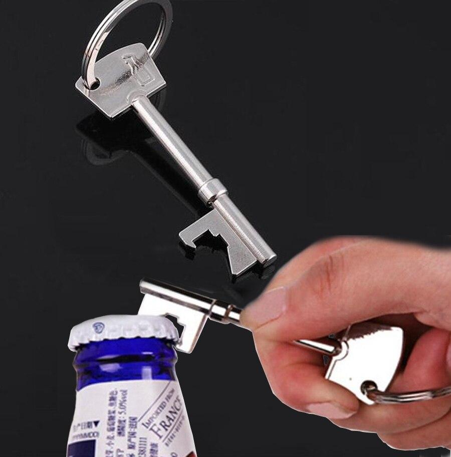 Portable Practical Metal Bottle Opener Key Ring Keyring Chain Bar Tool S