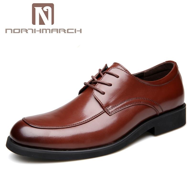 Casuais Oxfords De Escritório Trabalho Para Homens Vestido Homme Chaussures Formal Negócios Casamento Sapato Do Sapatos Northmarch Preto Dos Couro marrom SwxIqYqz