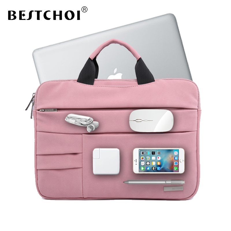 BESTCHOI Multi-pockets Laptop Bag for Macbook Air 13 Sleeve Pro 13 Case for Mac book Air Pro 13.3 14.1 inch Notebook Bag Cases