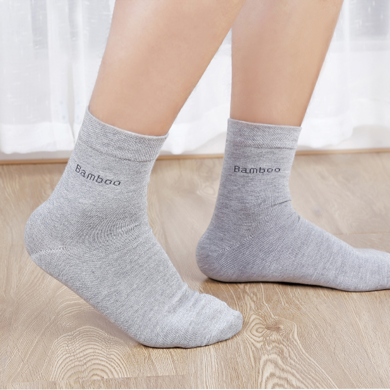 5Pairs/Lot Men's Bamboo Fiber Socks New Casual Business Anti-Bacterial Deodorant Breatheable Crew Socks Men Compression Socks