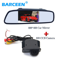 Black plastic car rear reversing camera +wire car mirror monitor suitable for Toyota Corolla (2007~2011) /Vios (2009 ~2010)